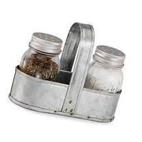 Fresh Canning Jars Vintage Look Metal Caddy Salt and Pepper