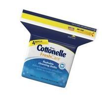 Cottonelle FreshCare Flushable Wipes Refill, 168 Flushable