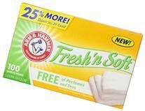 Arm & Hammer Fresh 'N Soft Fabric Softener Sheets, Free, 100