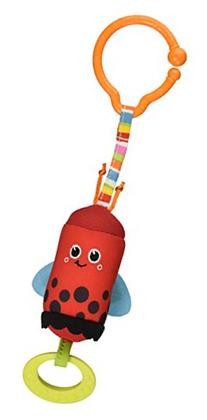 Tiny Love Friend Wind Chime Clip on Toy, Ladybug