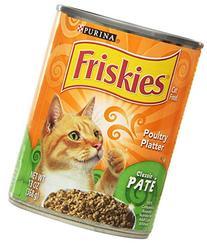 Purina 12-Pack Friskies Poultry Platter Wet Cat Food, 13-