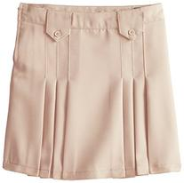 French Toast Big Girls' Front Pleated Skirt with Tabs, Khaki