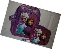 Frozen Backpack with Matching Lunch Tote Pink 2 pc Anna &