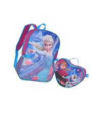 """Disney Frozen """"Heart Lunch"""" Backpack with Lunchbox - blue/"""
