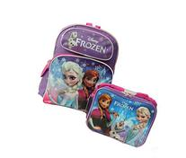 """Disney Frozen Elsa, Anna & Olaf Large 16"""" Backpack with"""