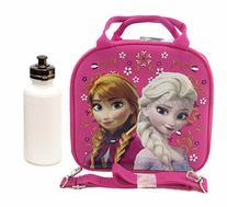 Disney Frozen Elsa Lunch Box Bag w/ Shoulder Strap + Water