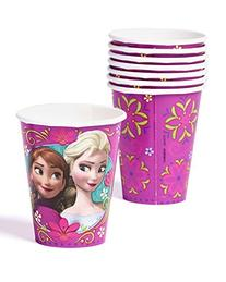 American Greetings Frozen 9 oz. Paper Party Cups, 8 Count,