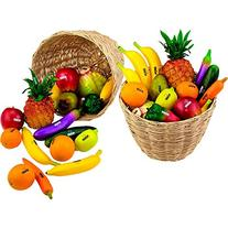 Nino 36-Piece Fruit and Vegetable Shakers in Basket 36