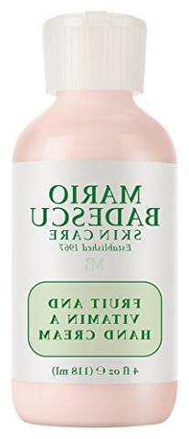Mario Badescu Fruit and Vitamin A Hand Cream, 4  Fl Oz