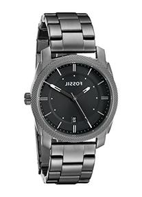 Fossil Men's FS4774 Machine Smoke Stainless Steel Bracelet