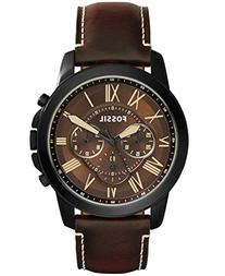 Fossil Men's FS5088 Grant Chronograph Watch with Brown
