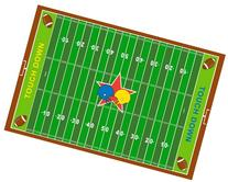 Fun Rugs FT-121 3958 Football Field Childrens Rug, 39-Inch