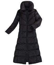 XIAOLV88 Women's Fuffled Collar Warm Slim Long Down Coat