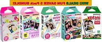 Fujifilm Instax Mini Instant Film 5 Pack BUNDLE, Candy Pop,