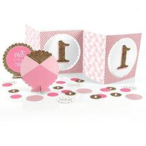 1st Birthday Girl - Fun to be One - Party Table Decorating Kit