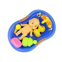 7 Pcs Funny Baby Bathtime Doll in Bath Tub with Shower