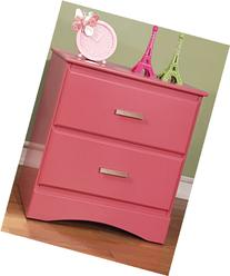 Furniture of America Kolora Youth Nightstand, Pink