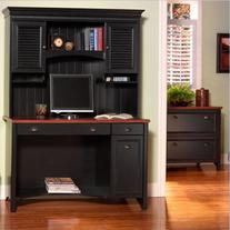 "Bush Furniture Stanford 48"" Wood Computer Desk with Hutch"
