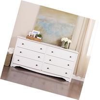 Furniture By Prepac White Monterey 6 Drawer Dresser