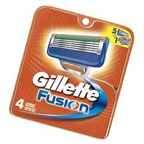 Gillette Fusion Men's Manual Razor Refills, 4 Count