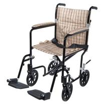Drive Medical FW17DB Fly-Weight Transport Chair, 17 Inch,