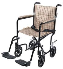 Drive Medical FW19DB Fly-Weight Transport Chair, 19 Inch,