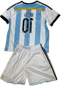 FWC Argentina Home Messi 10 futbol football soccer jersey &