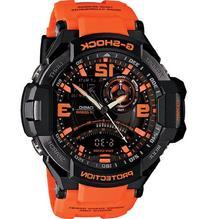 G-Shock Unisex G-Aviation Twin Sensor GA1000 Black/Orange