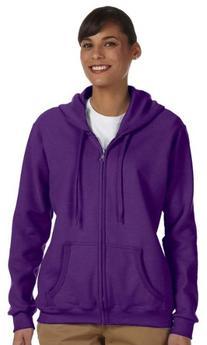 Gildan Women's Heavy Blend Full-Zip Hooded Sweatshirt, X-