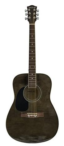 Glen Burton GA101BCO-BK Dreadnaught Acoustic Guitar with