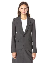 Theory Women's Gabe N Edition 4 Jacket, Charcoal, 4
