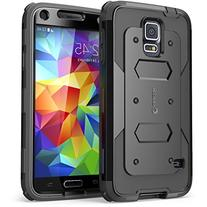 Galaxy S5 Case, i-Blason Armorbox Dual Layer Hybrid Full-body Protective Case with Front Cover and Built-in Screen Protector/Impact Resistant Bumpers