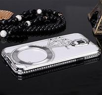 Galaxy S5 Case ,Lucky Stores  Luxury Diamond Hybrid Glitter