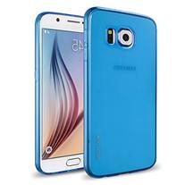 Galaxy S6 Case, INVELLOP Blue  Scratch-Resistant Transperent