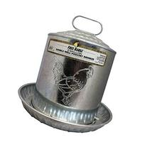 Harris Farms Galvanized Double Wall Poultry Drinker, 2