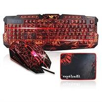 23c74e445b5 Gaming Keyboard and Mouse Combo-BlueFinger USB Wired LED