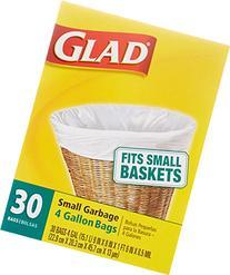 Glad Small Trash Bags, 4 Gallon, 30 Count
