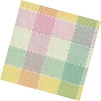 Longaberger Large Gatehouse Basket Pastel Plaid Fabric Liner