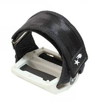 Fyxation Gates Pedal Strap Kit with White Pedal and Black