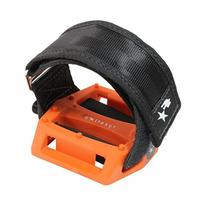 Fyxation Gates Pedal Strap Kit with Orange Pedal and Black
