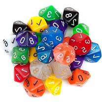 Bry Belly GDIC-1204 25 Pack of Random D10 Polyhedral Dice in