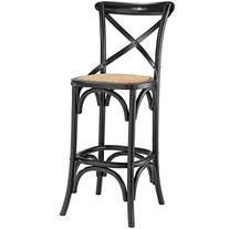 LexMod Gear Bar Stool, Black