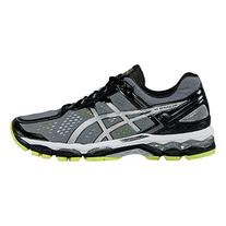 ASICS Men's Gel Kayano 22 Running Shoe, Charcoal/Silver/Lime