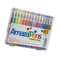 AmazaPens Gel Pens 30 Assorted Top Quality Coloring Pens
