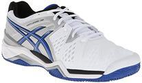 ASICS Men's Gel-Resolution 6 Clay Court Tennis Shoe,White/