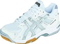 ASICS Women's GEL-Rocket 6 Volleyball Shoe,White/Silver,7.5