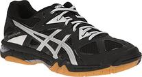 ASICS Women's Gel Tactic Volleyball Shoe, Black/Silver, 8.5