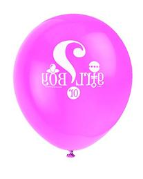 "12"" Latex Gender Reveal Balloons, 8ct"