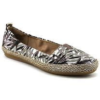 Easy Spirit Women's Geneen Flat, Brown/Multi, 6.5 M US