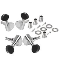 BQLZR Ukulele 2R2L Chrome Geared Machine Heads with Mounting